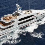 luxury power yacht for private cruise in greece